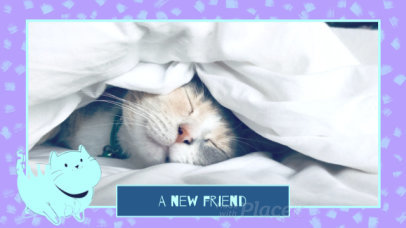 Slideshow Video Maker Featuring Cute Animated Cats 1545