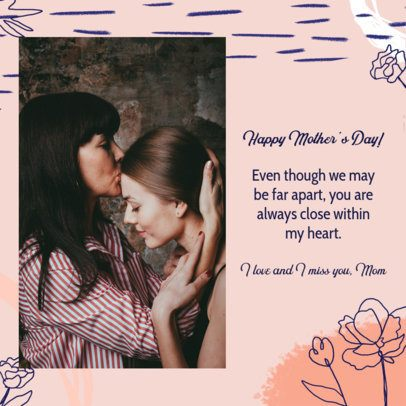 Instagram Post Maker with a Heartwarming Quote for Mother's Day 2452b