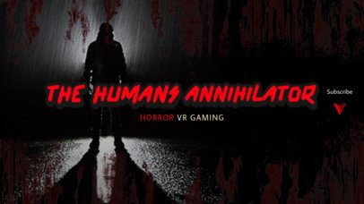 Texturized YouTube Banner Generator for a Horror Gaming Channel 2450i