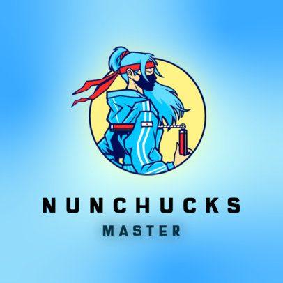 Gaming Logo Maker Featuring a Martial Arts Master Illustration 3165h