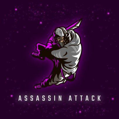 Logo Generator Featuring a Modern Ninja Character 3165g