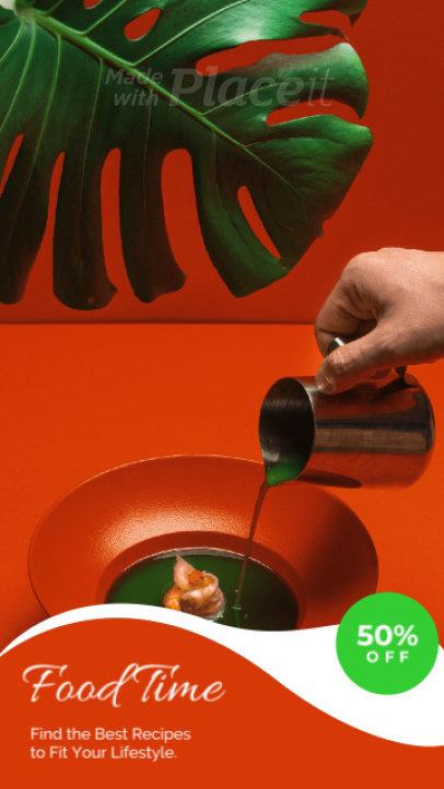 Cool Instagram Story Video Generator for Restaurants and Foodies 1229-el1
