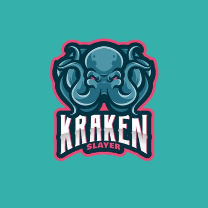 Sports Logo Maker Featuring an Evil Kraken Graphic 1063b-el1