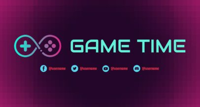 Twitch Banner Maker with an Abstract Gaming Controller Icon 2469g
