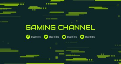 Twitch Banner Maker with a Pixel-Art Background 2469bb