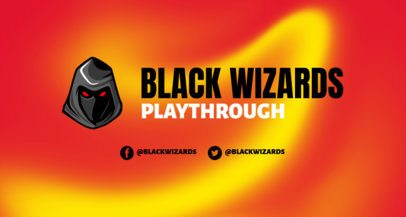 Intense Twitch Banner Creator with a Dark Wizard Character Graphic 2469s