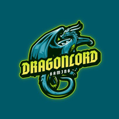 Logo Maker for Gamers Featuring Fierce Dragon Graphics 3185