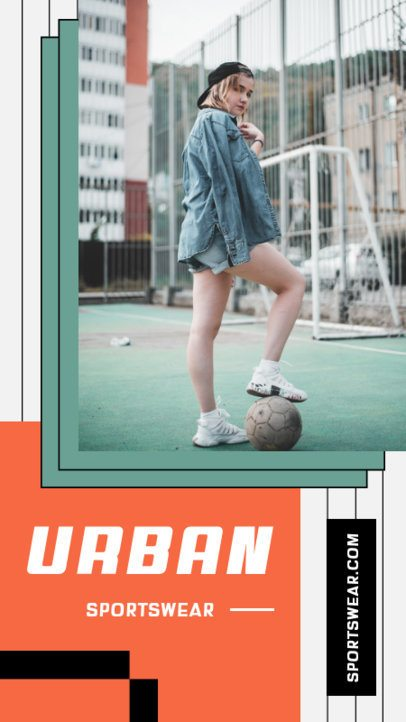 Instagram Story Maker for an Athleisure-Style Clothing Brand 975a-el1