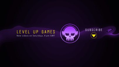 YouTube Banner Maker for a Gaming Channel with a Skull Icon 2470r
