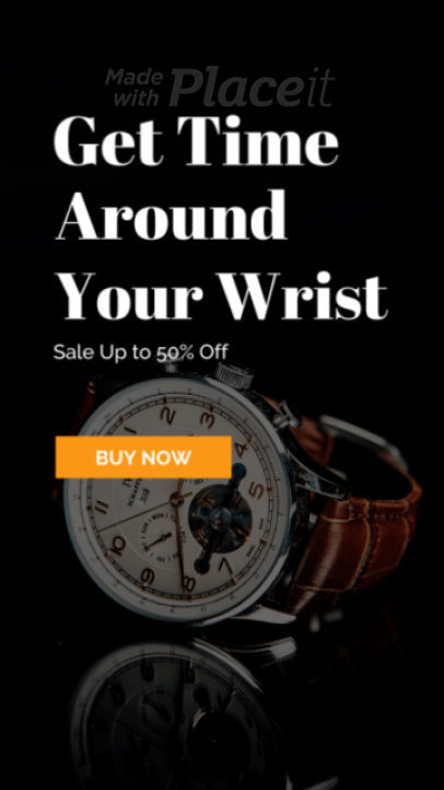 Instagram Story Video Maker for a Watches Sale 1623-el1