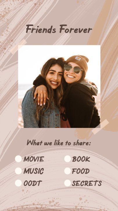 Instagram Story Creator for a Friendship Goals Bingo Challenge 2476b