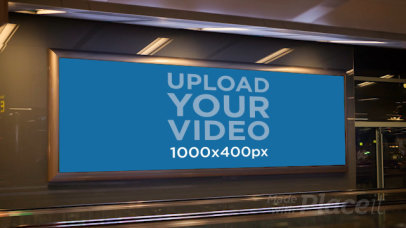 Video Featuring a Billboard Placed by a Moving Walkway 34384