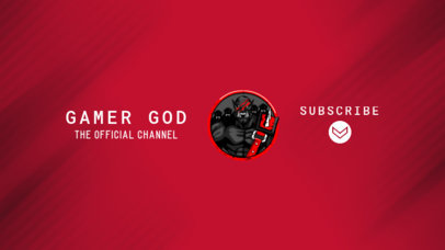 YouTube Banner Generator for Gaming Channels With an Aggressive Warrior Clipart 2470aa