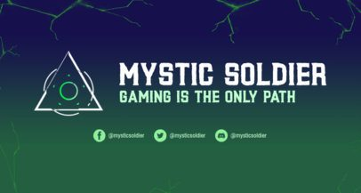 Twitch Banner Template for Gamers With Abstract Sci-Fi Graphics 2469q
