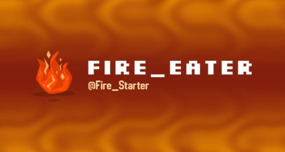 Twitch Banner Design Template with Fiery Graphics 2469w