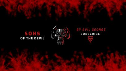 YouTube Banner Generator for a Gaming Channel with an Evil Skull Graphic 2470j