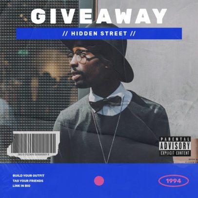 Instagram Post Generator for an Urban Clothing Giveaway 967a-el1