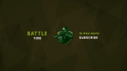 Minimalistic YouTube Banner Maker for a Military Shooter Gaming Channel 2470d