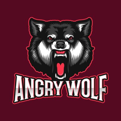 Logo Template Featuring an Aggressive Wild Wolf Graphic 1092b-el1