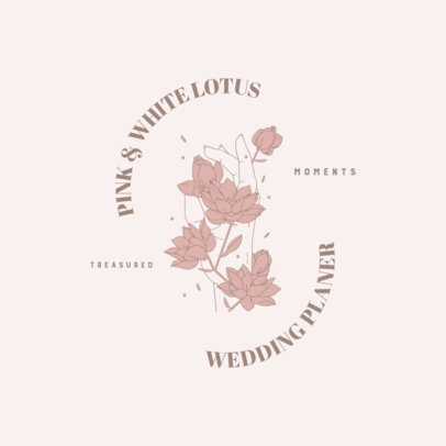 Beauty Brand Logo Generator with a Lotto Flower Illustration 3192g