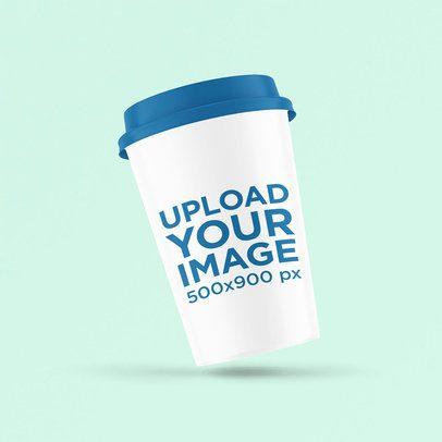Mockup of a Slightly Angled Coffee Cup 3774-el1