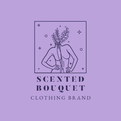 Female Clothing Brand Logo Maker Featuring an Outline Drawing 3193e