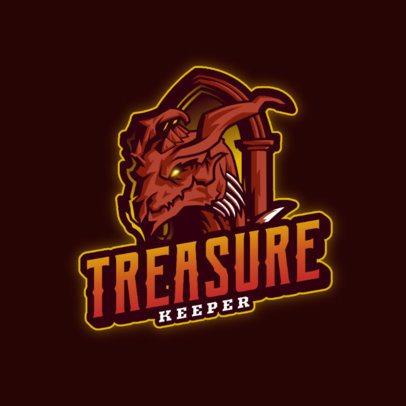 Gaming Logo Creator With a Dragon Clipart 3185e