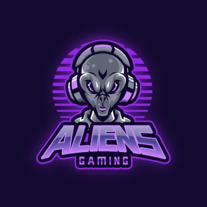 Online Gaming Logo Creator with Graphics of Aliens 3204