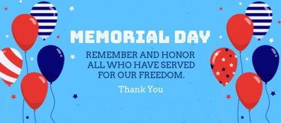 Facebook Cover Design Template with a Memorial Day Theme 2487