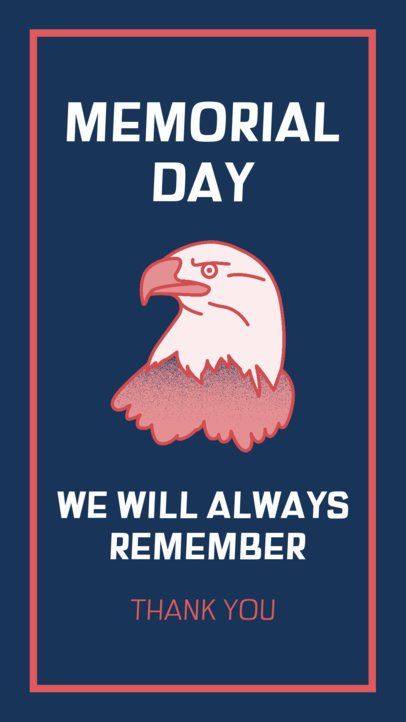 Instagram Story Maker Featuring Patriotic Graphics for a Memorial Day Remembrance 2787