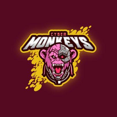 Logo Creator Featuring a Robotic Monkey Graphic 3209b