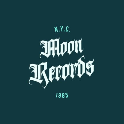 Record Company Logo Maker with a Gothic Typography 3213m