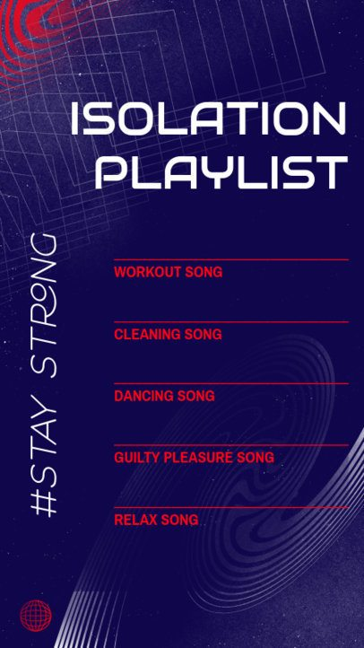 Instagram Story Template for an Isolation Playlist 2489d