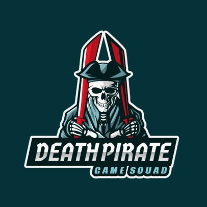 Logo Creator Featuring a Deadly Pirate with Two Swords 1217b-el1