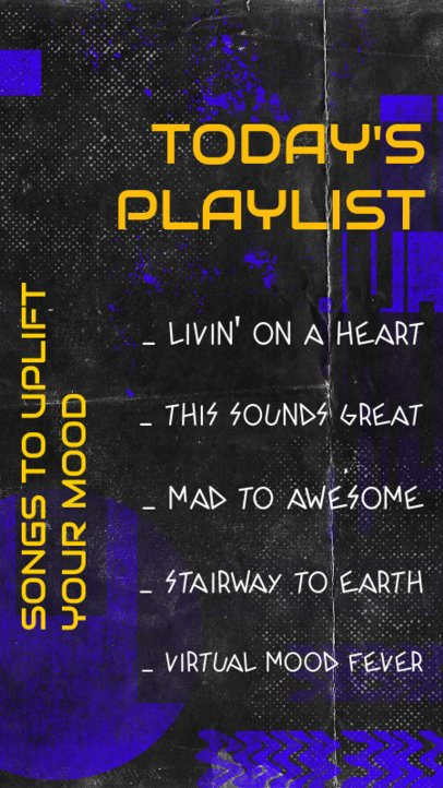 Instagram Story Maker Featuring an Uplifting-Songs Playlist 2489g