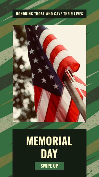 Instagram Story Maker for Memorial Day with a Military Theme 2483o