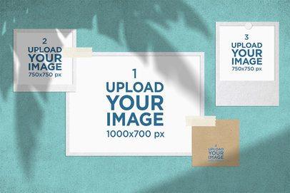 Mood Board Mockup Featuring a Palm Shadow 3877-el1
