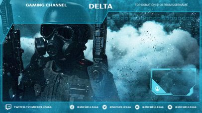 Twitch Overlay Template with a Translucid Design 2511n