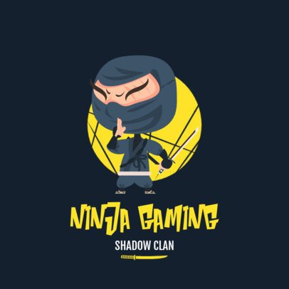 Gaming Logo Generator Featuring a Cartoonish Ninja Graphic 1264c-el1