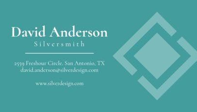 Online Business Card Maker to Design a Jewelry Business Card 563d2