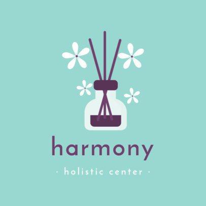 Logo Creator for a Holistic Center with Aroma Diffuser Sticks 1304a-el1