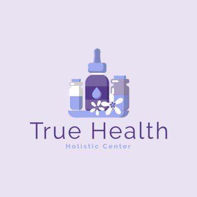 Holistic Center Logo Maker Featuring Dropper Graphics 1304d-el1