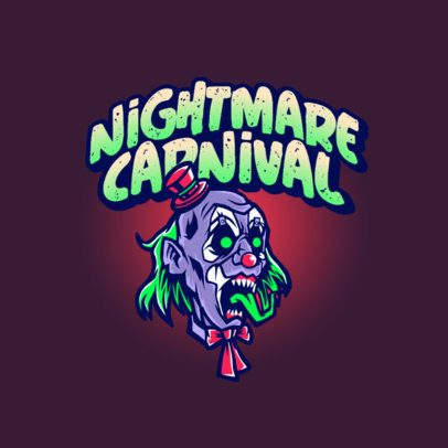 Gaming Logo Creator Featuring a Horrific Zombie Clown 3233b