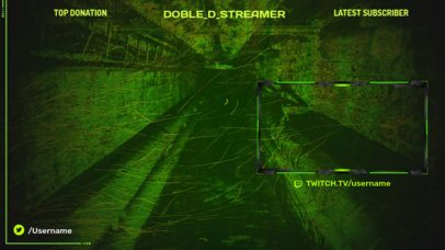 Gaming OBS Overlay Creator with a Night-Vision Background 2512l