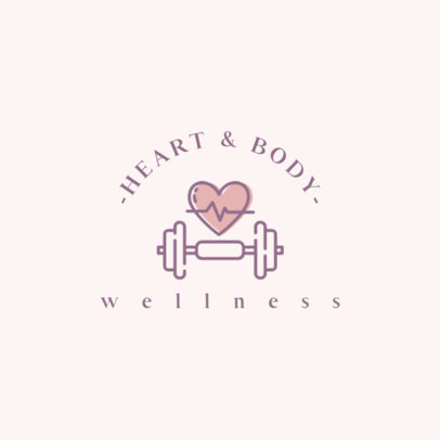 Logo Creator for a Wellness Brand Featuring a Weight and Heart Graphic 1310b-el1