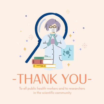 Instagram Post Creator to Thank the Scientific Community 2503d