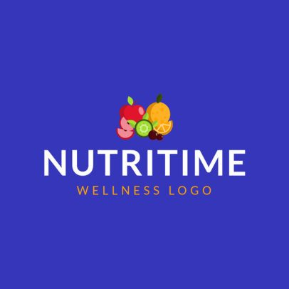 Logo Maker for a Nutritionist Featuring Fruit Graphics 1303c-el1