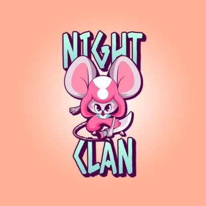 Logo Creator Featuring a Mighty Mouse Assassin 3236d