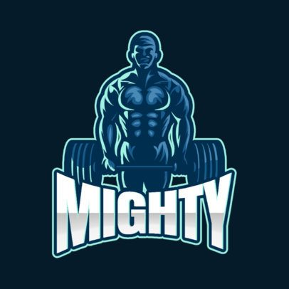 Sports Logo Generator Featuring a Muscled Man Graphic Lifting a Barbell 1427a-el1