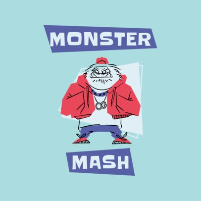 Vintage Clothing Brand Logo Maker with a Monster Cartoon 3227f